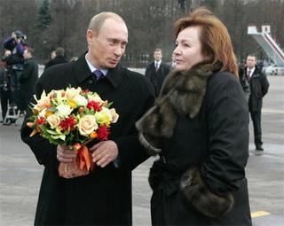 Людмила Путина с Владимиром Путиным