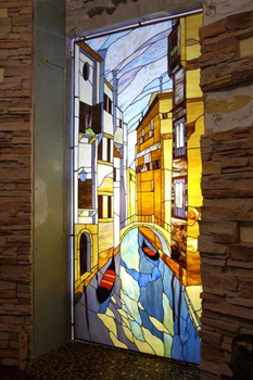 пример двери витража тиффани