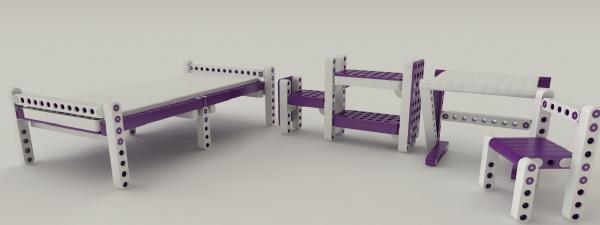 детская мебель конструктор lego