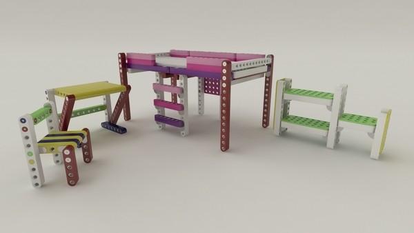 варианты детской мебели-конструктора OLLA