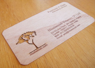 технология изготовления деревянных визитных карточек