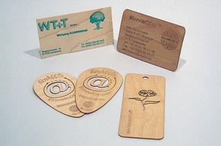 деревянные визитные карточки