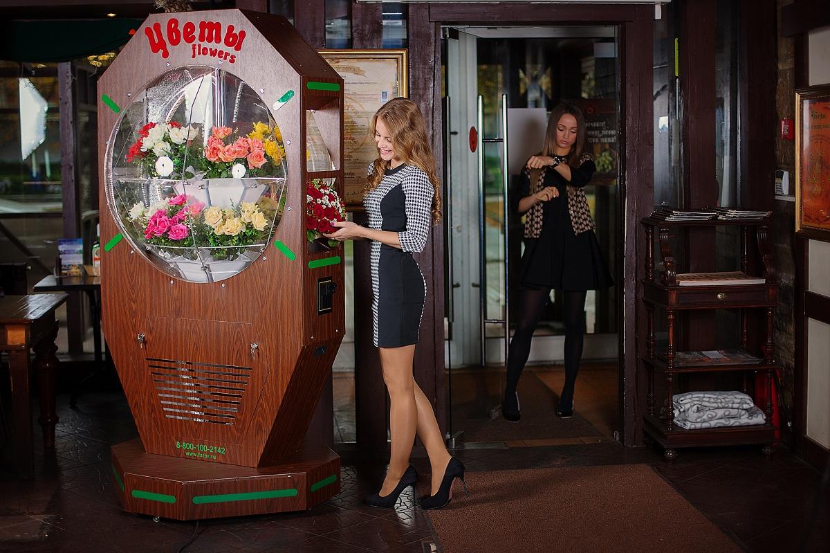 Бизнес на автоматах цветов