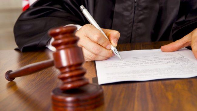 Судья на рабочем месте
