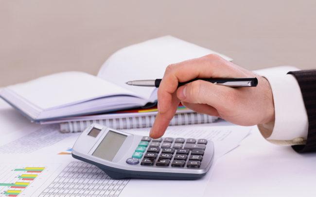 Подсчёт на калькуляторе