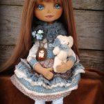 Интерьерная кукла с несъёмной одеждой