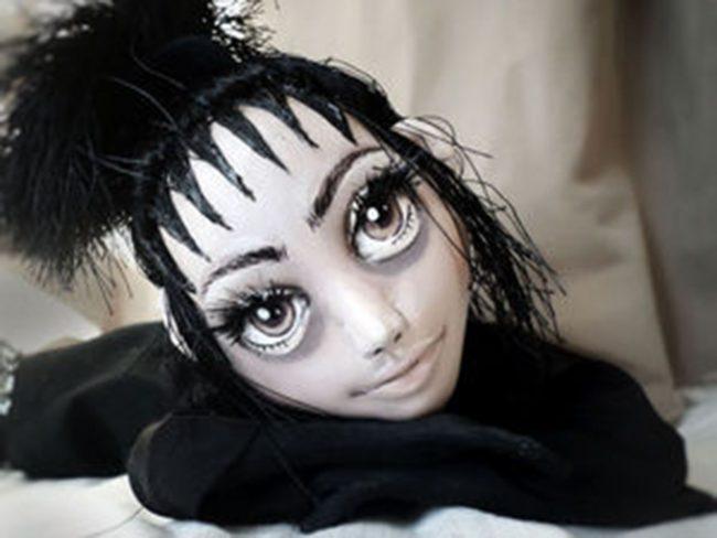 Интерьерная текстильная мистическая кукла