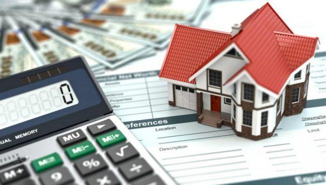 Калькулятор, домик, деньги
