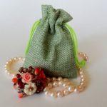 Текстильный мешочек для ювелирного украшения