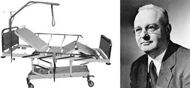 Томас Миджли и кровать для больных