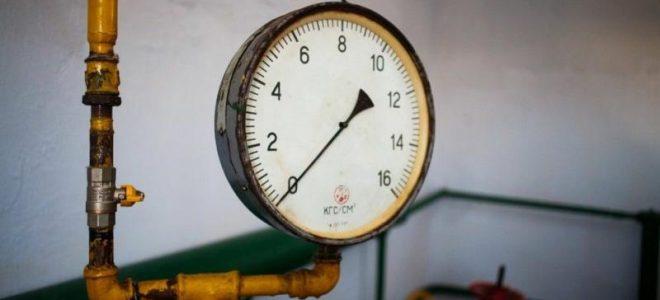 Манометр на газовой сети