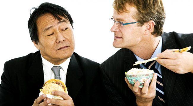 Партнёры за обедом