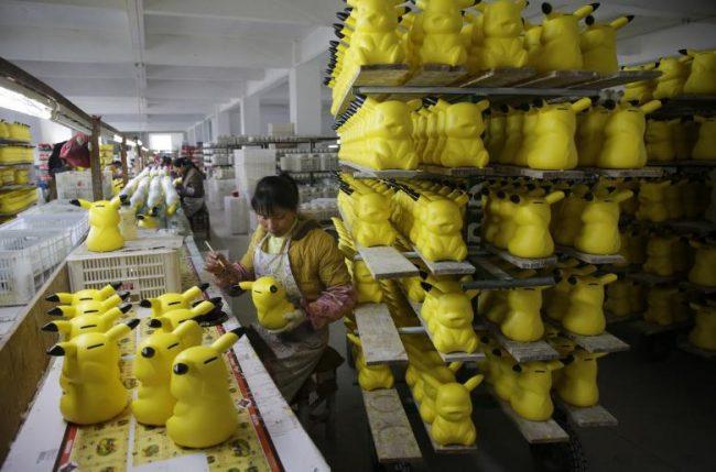 Покраска игрушек в Китае