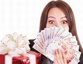 Подарок на Новый год, деньги