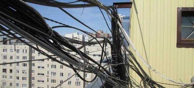 Телекоммуникационные системы на крыше жилого дома
