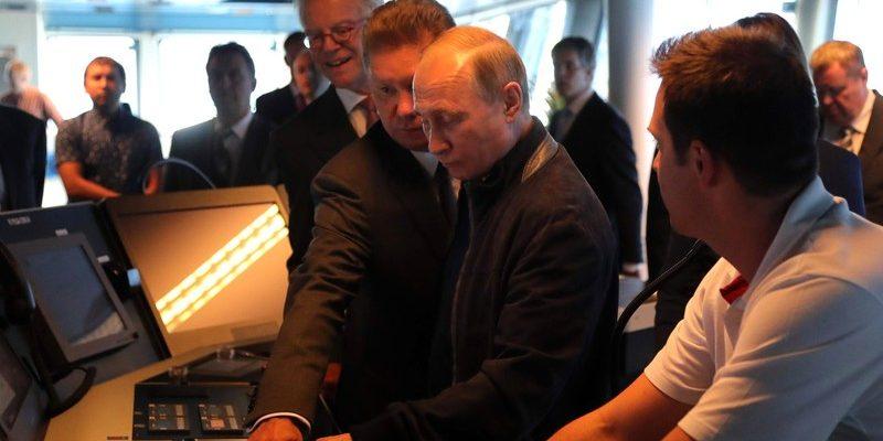 Владимир Путин на запуске