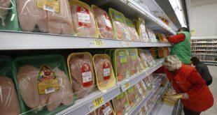Мясо курицы на прилавках магазина