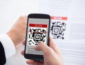 Использование смартфона для сканирования QR-кода