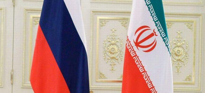 Флаг России и Ирана