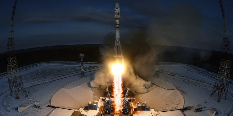 Молния ударила в ракету «Союз»