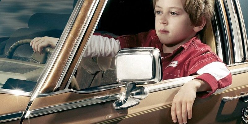 Четырехлетний ребенок на Citroen
