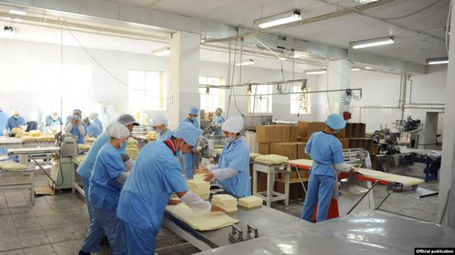 Работники хлебозавода в Подмосковье