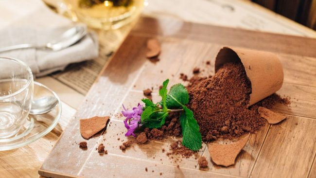Десерт «Мамин любимый цветок»
