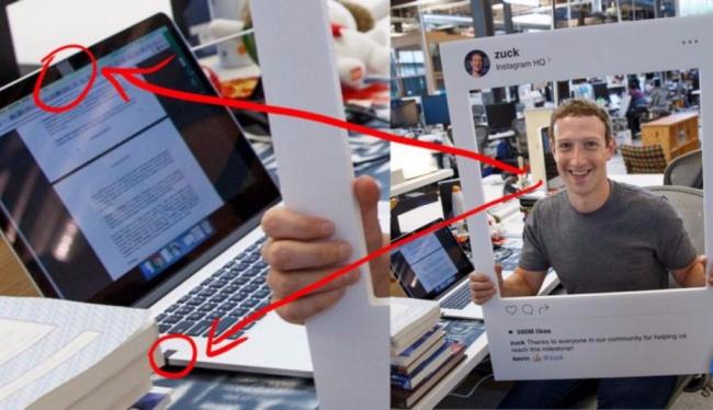 Ноутбук Марка Цукерберга